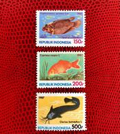 INDONÉSIE 1987 3v Neuf ** MNH Mi 1242 / 1244 YT 1306 / 1308 Pesce Poisson Fish Pez Fische Indonesia - Peces