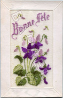 Bonne Fête - Carte Brodée (Circulé En 1916) - Sonstige