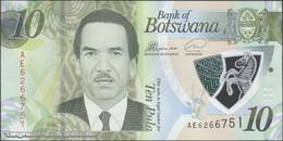 TWN - BOTSWANA NEW - 10 Pula 2018 Polymer - Prefix AE UNC - Botswana