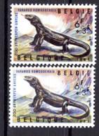 1347** V2 Double Griffe Rouge Verticale Derrière La Nuque - Cote 10,00 € - Abarten (Katalog Luppi)