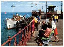 (AA 5) UK - Swanage Pier Head (with Grosvenor Hostess Ship And Fisherman) (posted 1977 ?) - Transbordadores