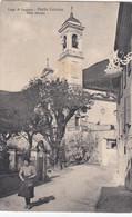 SWITZERLAND-SCHWEIZ-SUISSE-SVIZZERA-LUGANO-PORTO CERESIO-UNA STRADA-CARTOLINA VIAGGIATA IL 24-7-1919 - TI Ticino