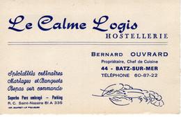 CARTE DE VISITE-LE CALME LOGIS HOSTELLERIE - Visitekaartjes