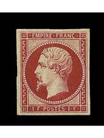 EMISSION NAPOLEON NON DENTELE - (*) - N°18d - Réimpression Du 1F - Signé - TB - 1853-1860 Napoleone III