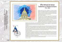 """"""" ONAC : OFFICE NATIONAL DES ANCIENS COMBATTANTS """" Sur Feuillet CEF 1er Jour Sur Soie De 2016. N° YT 5113 FDC - 2010-...."""