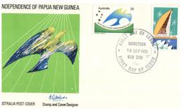 (AA 6 B) Australia FDC  - Papua New Guinea Independence (Bankstown P/m) - FDC