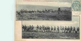 63 SAINT ANTHEME Plateau De La Fayolle  Tirs De Combat CPA - Manoeuvres
