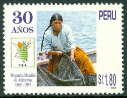 PERU 1995 WORLD FOOD PROGRAM** (MNH) - Peru