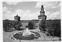 (RECTO / VERSO) MILANO - N° 394 - CASTELLO SFORRESCO - VIEUX CARS - BEAU TIMBRE - CPSM GF NON VOYAGEE - Milano