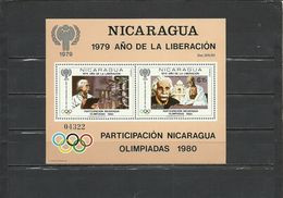 NICARAGUA   Olympics  Olympic Games Moscow  1980, A.Einstein  SS #113 - Sommer 1980: Moskau