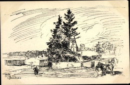 Artiste CPA Egler, Willi, Brécy-Brières Ardennes, Champagne, I WK, Zweite Folge No. 10 - Otros Municipios