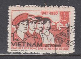 Vietnam 1985 - 40 Years Police, Portofrieheitsmarke Mi-Nr. 46, Used - Vietnam