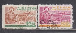 Vietnam Nord 1958 - Dienstmarken, National Defense, Mi-Nr. 27/28, Used - Vietnam