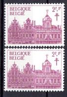 1356** V1 Chiffre 3 Dans Le Ciel Blanc - Cote 5,00 € - Abarten (Katalog Luppi)