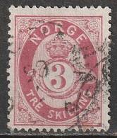 Norvège N° 18, Tre Skilling - Used Stamps