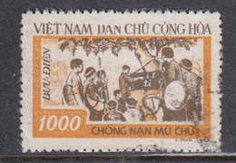 Vietnam Nord 1958 - Campaign Against Illiteracy, Mi-Nr. 69, Used - Vietnam