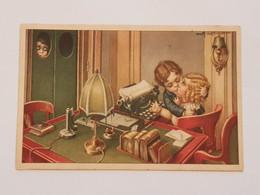 Carte Postale A Bertiglia Bisou, Baiser D'enfants - Sin Clasificación