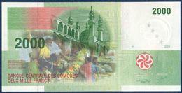 COMOROS - COMORES - KOMOROS 2000 FRANCS P-17 Mosque And Market Of Moroni - Huts 2005 UNC - Comoros