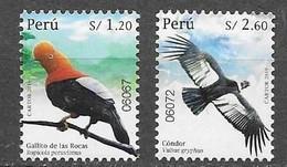 PERU, 2019, MNH,BIRDS, CONDORS, 2v - Otros