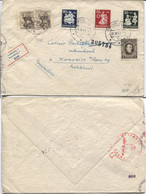 Slowakei # 112-4,42,74(2x) Einschreibebrief Bratislava 28.2.43 > Kamenice, OKW-Zensur - Storia Postale