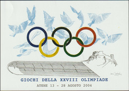 Italy Postcard 2004 Athens Olympic Games - Made By U.I.C.O.S. - Mint (T5-41) - Estate 2004: Atene