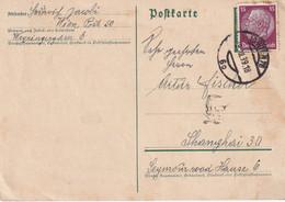 ALLEMAGNE 1939 CARTE DE WIEN POUR SHANGHAI - Brieven En Documenten