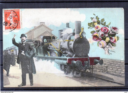Gare Avec Train - Estaciones Con Trenes