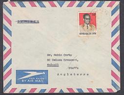 Ca0087  ZAIRE 1978,  Mobutu Stamp On Kisangani Cover To England - 1971-79: Gebraucht