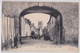 BERGUES - Porte Et Rue Du Quai PL Lille - Bergues