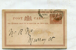 AUSTRALIE / AUSTRALIA - Perth :  Entier Postal 1 1/2 Penny Western Australia  - 1894 - Briefe U. Dokumente