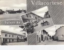 VILLACORTESE-MILANO-SALUTI DA.. 4 VEDUTE(2 VESPE PIAGGIO)-CARTOLINA VERA FOTOGRAFIA VIAGGIATA IL 21-8-1964 - Milano (Milan)