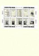 B40 VATICAN BLOC FEUILLET 2011 L'osservatore Romano 1861 - 2011 Neuf ** - Blocks & Kleinbögen