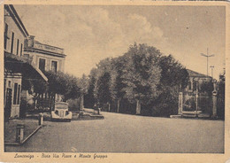 LANCENIGO-TREVISO-BIVIO VIA PIAVE E MONTE GRAPPA-CARTOLINA VIAGGIATA 1948-1852 - Treviso