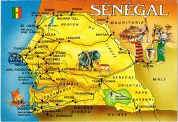 CPM Map Postcard SENEGAL (1067846) - Senegal