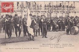 62 BOULOGNE Sur MER Inauguration De La Statue Du Général Argentin ,les Marins Argentins à L'arrivée Du Ministre ,musique - Boulogne Sur Mer