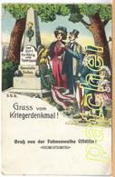 Litho Offdilln (Haiger) Gruss Vom Kriegerdenkmal, Fahnenweihe, Um 1910, RAR - Dillenburg