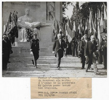 Photo De Presse Agence Française Reportage Photographique MONDIAL PARIS METZ Inauguration Du Monument Aux Morts - Personalidades Famosas