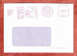 Briefdrucksache, Hasler C10-1759, Rasant Haefele, 70 Pfg, Nagold 1988 (1841) - Marcofilia - EMA ( Maquina De Huellas A Franquear)