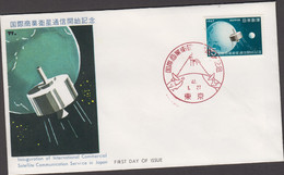 JAPAN  -1971- SATELLITE COMMUNICATIONS   ILLUSTRATED FIRST DAY COVER - Cartas