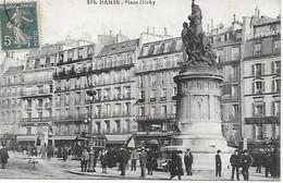 75 - PARIS - LA PLACE CLICHY ANIMEE 1921 - Squares