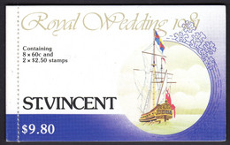 ST VINCENT - 1981 CHARLES & DIANA ROYAL WEDDING BOOKLET FINE MNH ** SG SB11 - St.Vincent (1979-...)