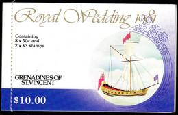 ST VINCENT GRENADINES - 1981 CHARLES & DIANA ROYAL WEDDING BOOKLET FINE MNH ** SG SB5 - St.Vincent & Grenadines