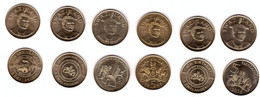 Swaziland - Set 6 Coins X 5 Emalangeni 1999 - 2018 UNC Comm. Lemberg-Zp - Swaziland