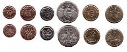 Swaziland - Set 6 Coins 5 10 25 50 Cents 1 2 Emalangeni 2007 - 2015 UNC Lemberg-Zp - Swaziland