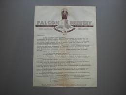 AMSTERDAM - FALCON BREWERY - Brouwerij - Brasserie - Van Vollenhoven - Facturas
