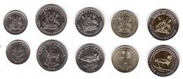 Uganda - Set 5 Coins 50 100 200 500 1000 Shilingi 2012 - 2015 UNC Lemberg-Zp - Oeganda
