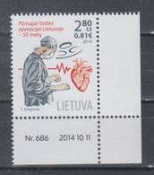 Lithuania 2014 Mi 1171 Mnh Surgery - Lituania
