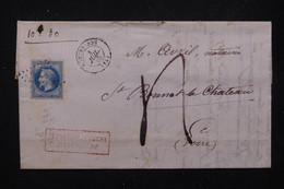 FRANCE - Lettre De Montbrisson En 1868 Pour St Bonnet Le Château, Affranchissement Napoléon 20ct Et Taxé - L 82061 - 1849-1876: Klassieke Periode