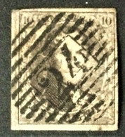 1851/54 König Leopold I  Mi.3 B Mit Stempel P45 Gent - 1851-1857 Medallions (6/8)