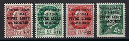 ⭐ France - Libération - Mayer N° 1 à 4 * - Thorens - Savoie - Neuf Avec Charnière - TB - 14 / 7 / 1944 ⭐ - Liberazione